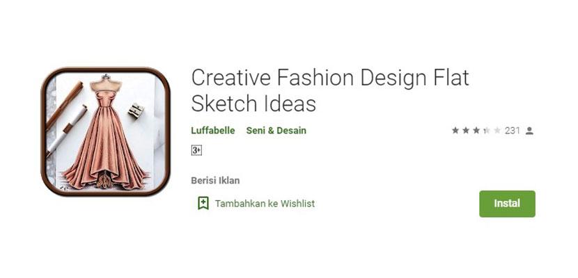 Creative Fashion Design Flat Sketch Ideas