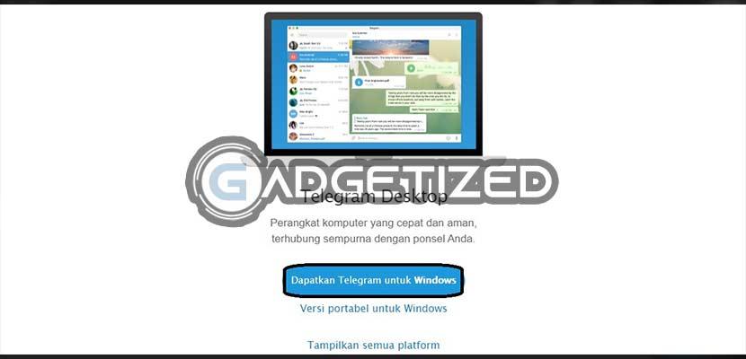 Dapatkan Telegram Untuk Windows
