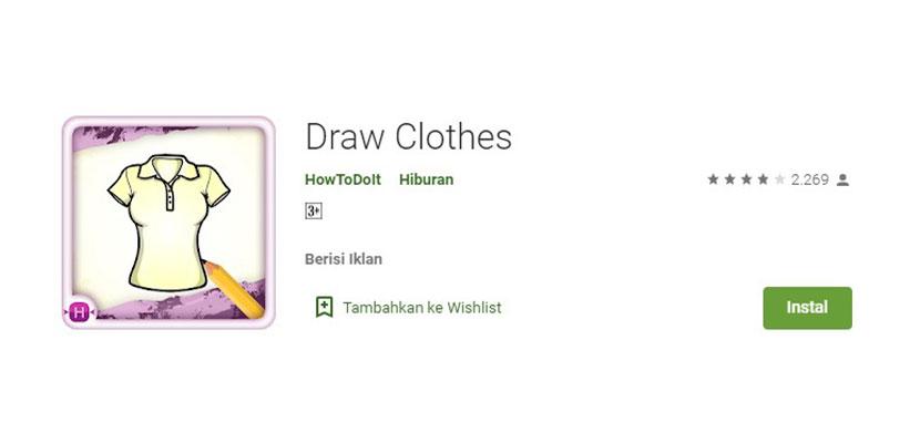 Draw Clothes Aplikasi Desain Kaos Baju