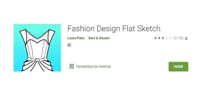 Fashion Design Flat Sketch