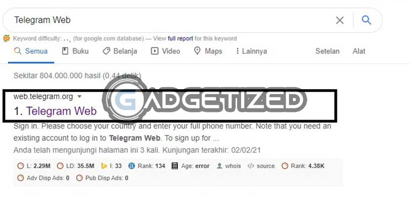 Kunjungi Situs Telegram Web