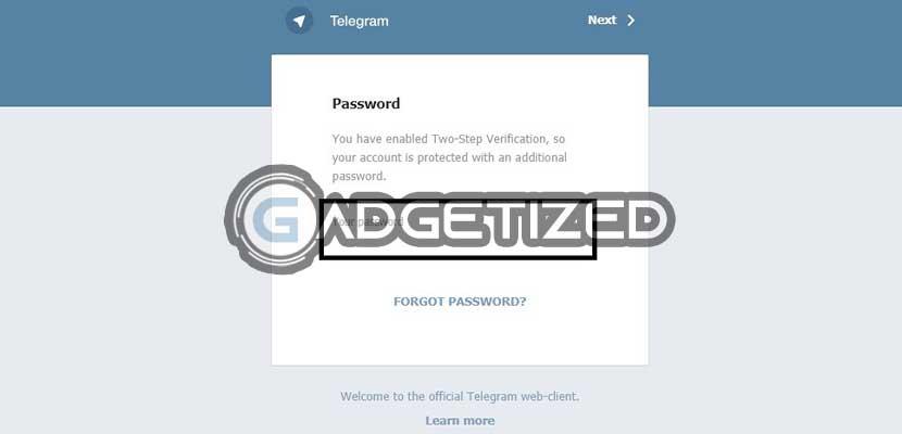 Masukkan Password Telegram