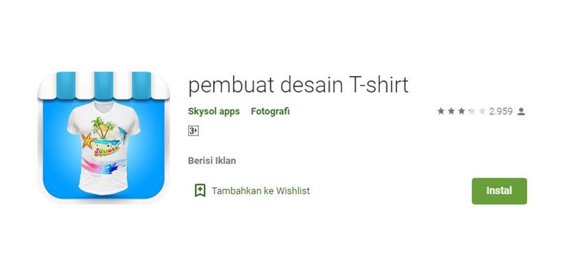 Pembuat Desain T Shirt