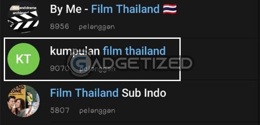 Pilih Grup atau Channel Film