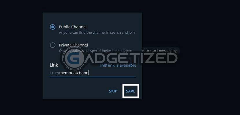 Pilih Jenis Channel