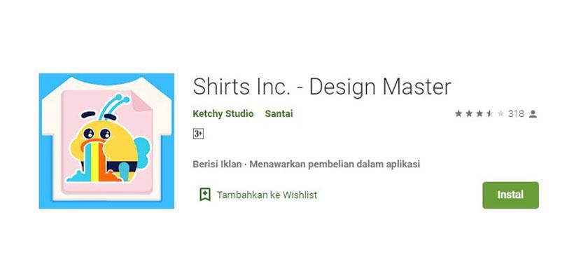 Shirt Inc Aplikasi Desain Kaos Baju