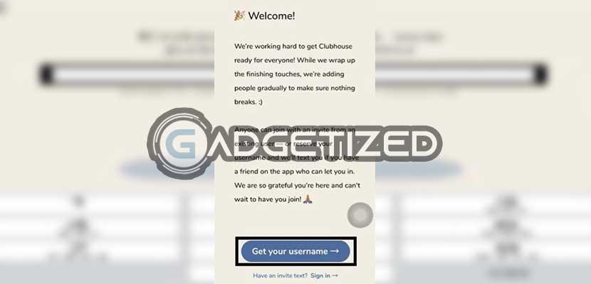 Tap Get Username