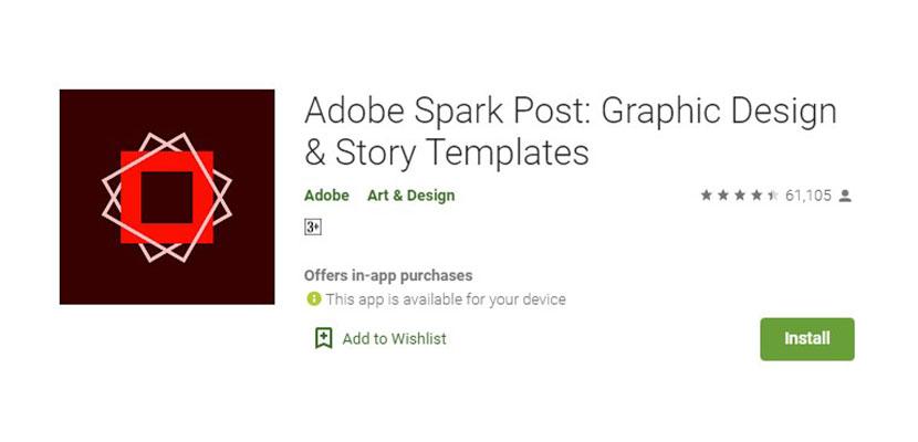 Aplikasi Pembuat Poster Adobe Spark Post
