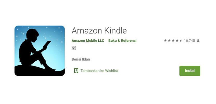Aplikasi Baca Novel Online Amazon Kindle