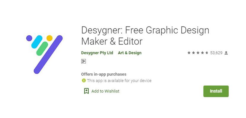 Aplikasi Pembuat Poster Desygner