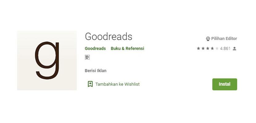 Aplikasi Baca Novel Online Goodreads