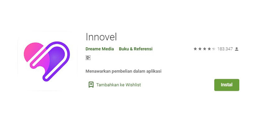 Aplikasi Baca Novel Online Innovel