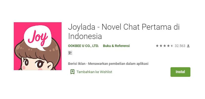 Aplikasi Baca Novel Online Joylada