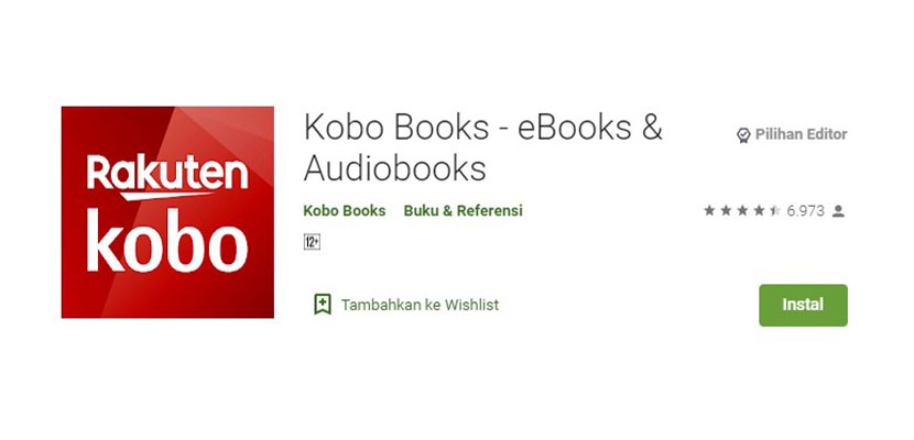 Aplikasi Baca Novel Online Kobo Books