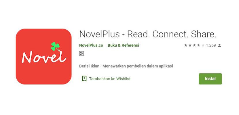 Aplikasi Baca Novel Online NovelPlus