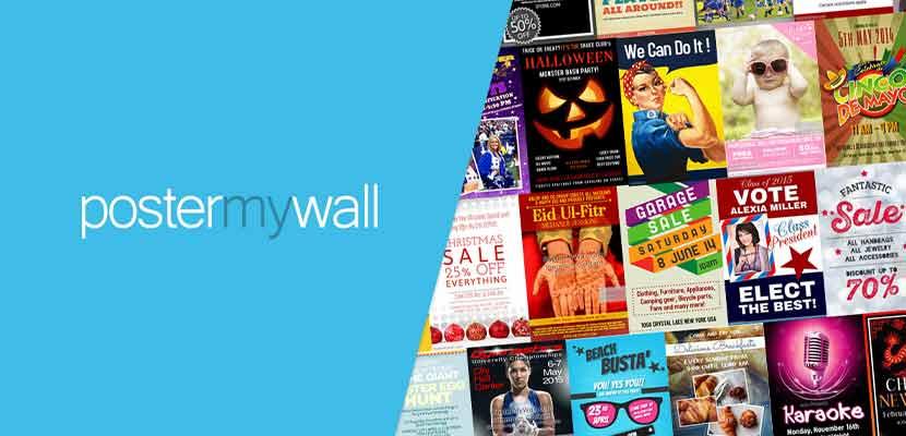 Aplikasi Pembuat Poster PosterMyWall