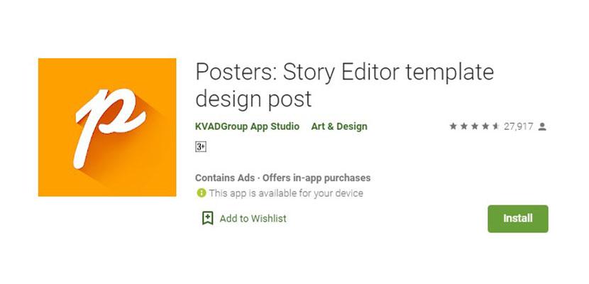 Posters Story Editor Template Design Post Aplikasi Pembuat Poster