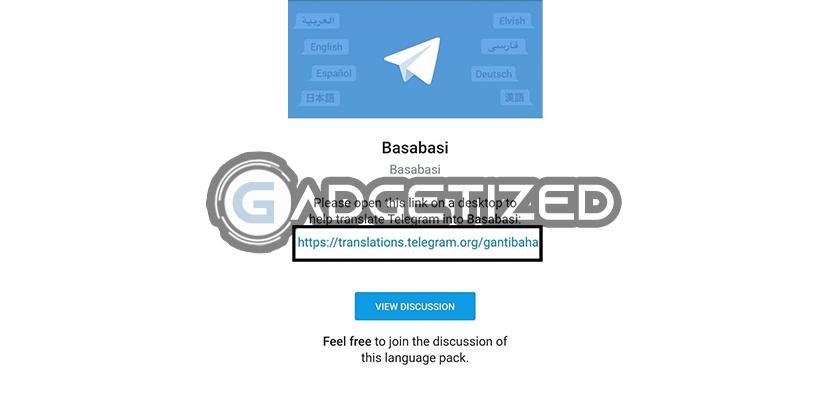 Tap Link Setlang Telegram