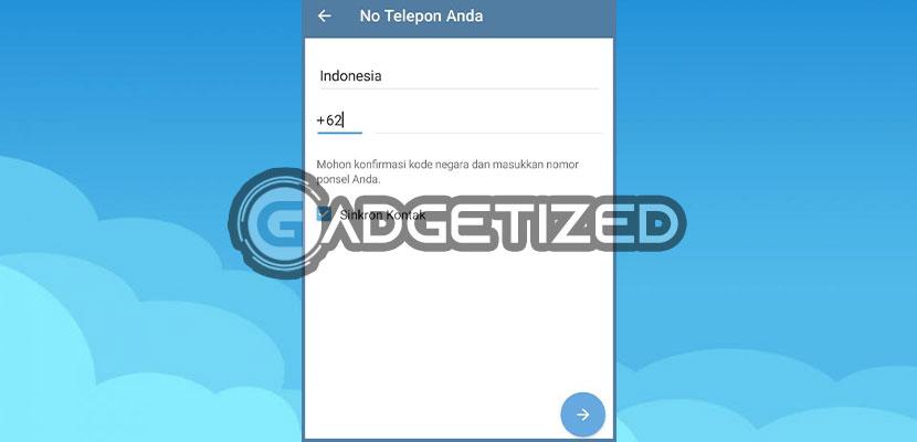 1. Buat Akun di Telegram