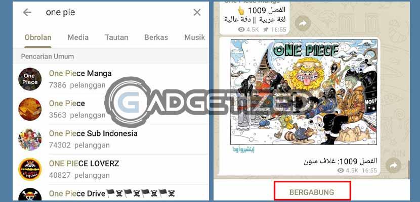 1. Gabung dengan Grup di Telegram