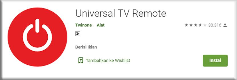 10. Universal TV Remote Twinone