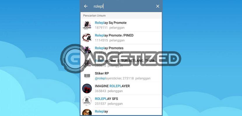 3. Cari Grup RP di Telegram