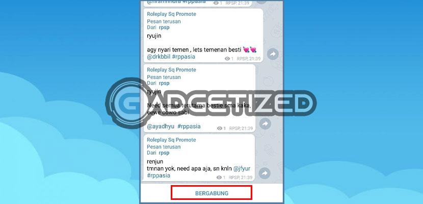 4. Bergabung dengan Grup RP Telegram