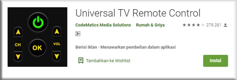 4. Remote Control Universal TV