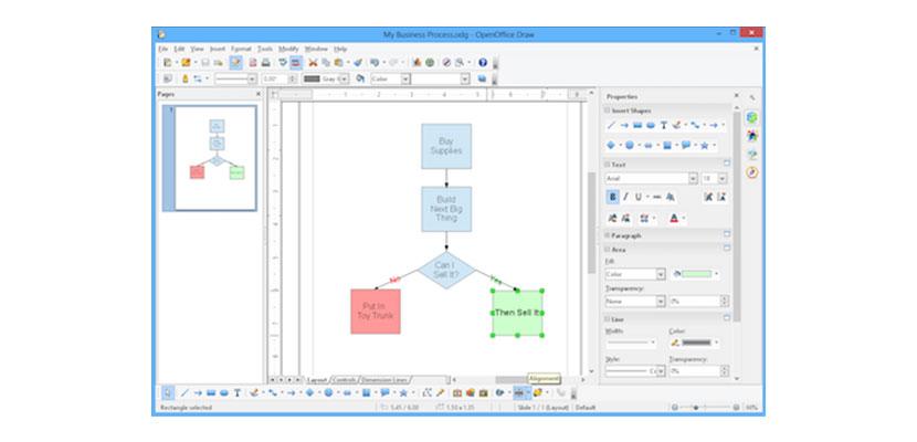 Aplikasi Membuat Flowchart Apache OpenOffice Draw