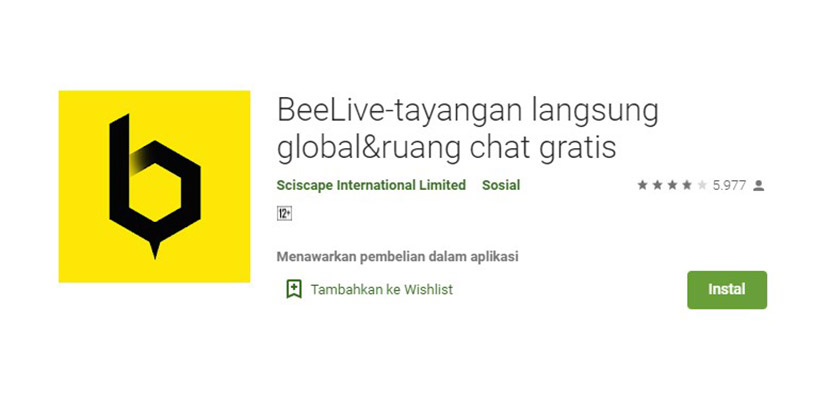 BeeLive Aplikasi Mirip Gogo Live