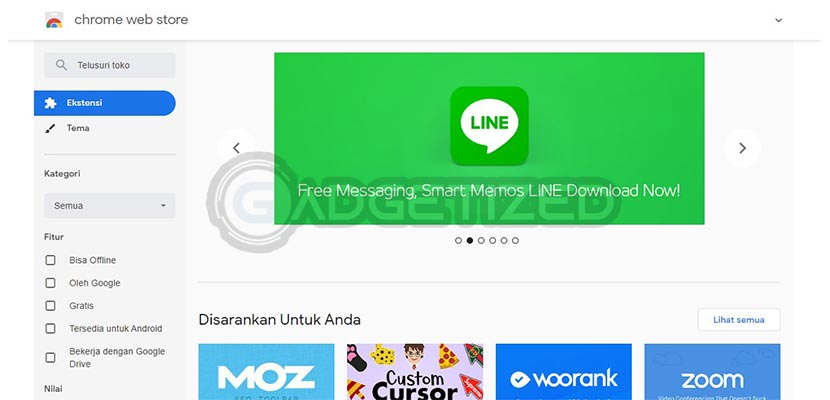 Buka Chrome Web Store