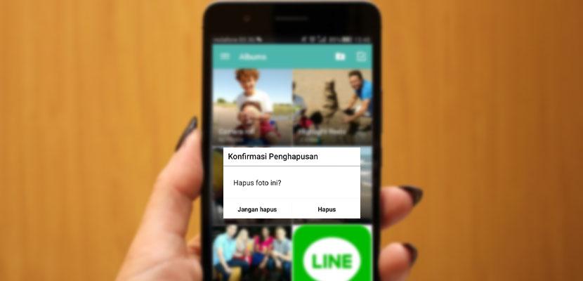 Cara Menghapus Foto di LINE