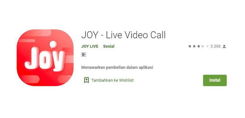 JOY Aplikasi Mirip Gogo Live