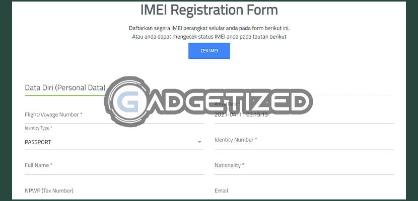 Langkah berikutnya silahkan isi form data diri