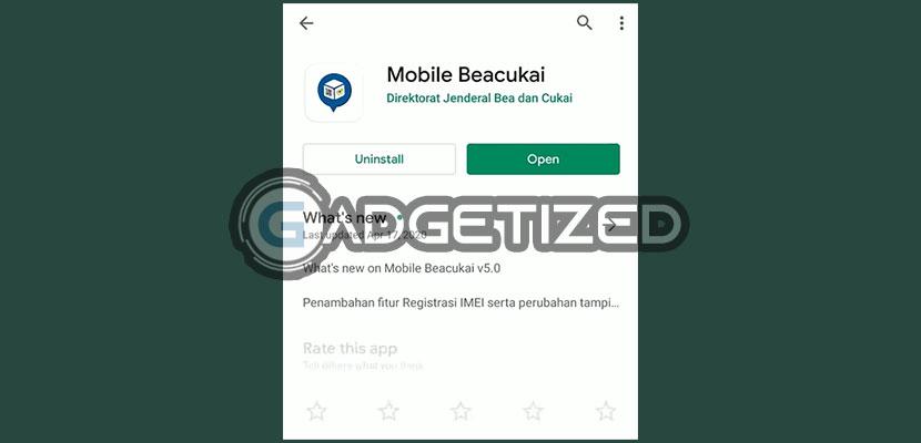 Langkah pertama silahkan download aplikasi Mobile Beacukai di Google Play Store