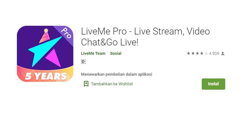 LiveMe Pro Aplikasi Mirip Gogo Live