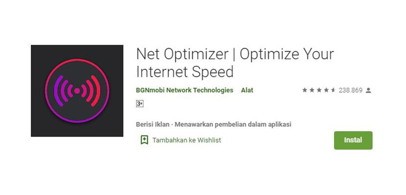 Aplikasi Penguat Sinyal Net Optimizer
