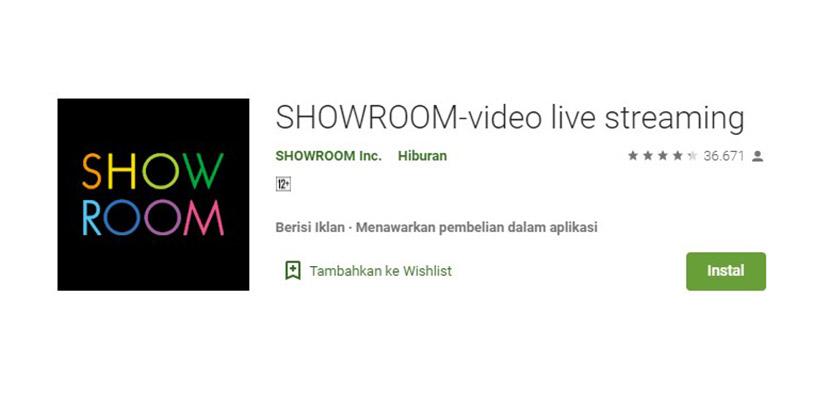 SHOWROOM Aplikasi Mirip Gogo Live