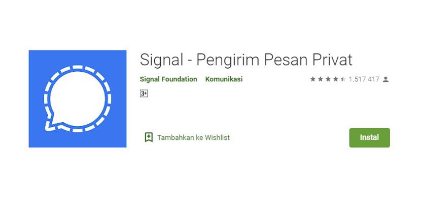 Aplikasi Chatting Selain WhatsApp Signal