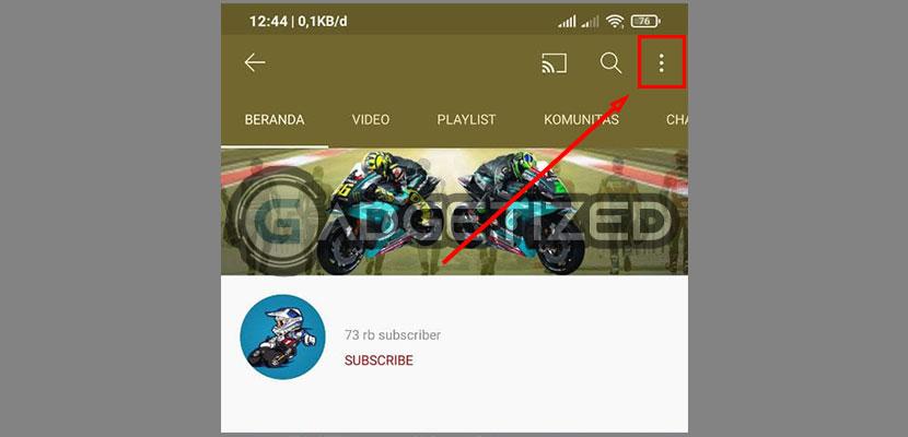 Silahkan klik icon 3 Titik di sudut bagian kanan atas
