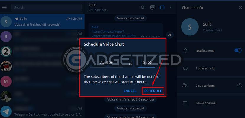 atur tanggal dan waktu voice chat sesuai keinginan