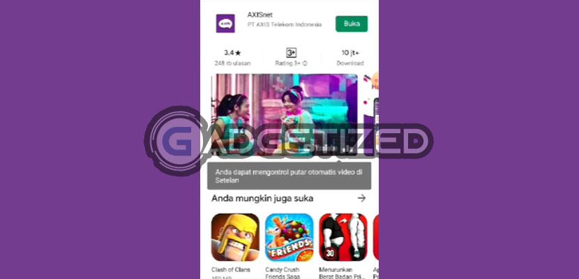 1. Download Aplikasi AXIS Net