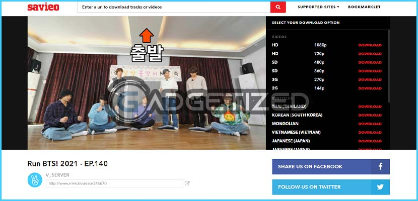 2. Download Video V Live di Savieo