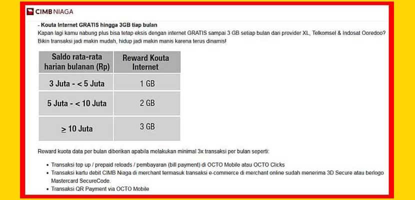 3. Kuota Gratis Indosat 1 3GB Setiap Bulan
