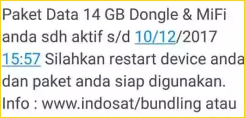 5. Kuota Gratis 4G 14GB