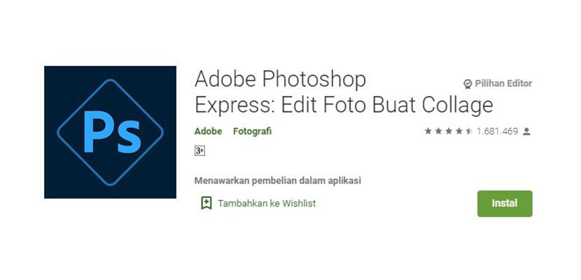 Aplikasi Edit Foto Adobe Photoshop