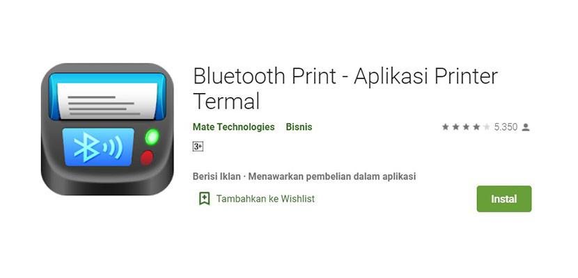Aplikasi Cetak Struk Bluetooth Print