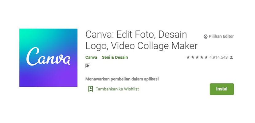 Aplikasi Edit Foto Canva