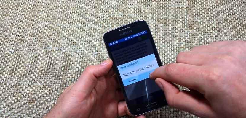 Cara Menonaktifkan Talkback Samsung Dengan Tombol