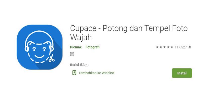 Aplikasi Ganti Wajah Cupace